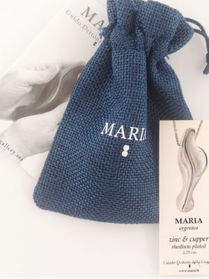 certificate-of-the-artwork-maria-argentea-necklace-0.9-inches-and-fabric-bag-blue-color